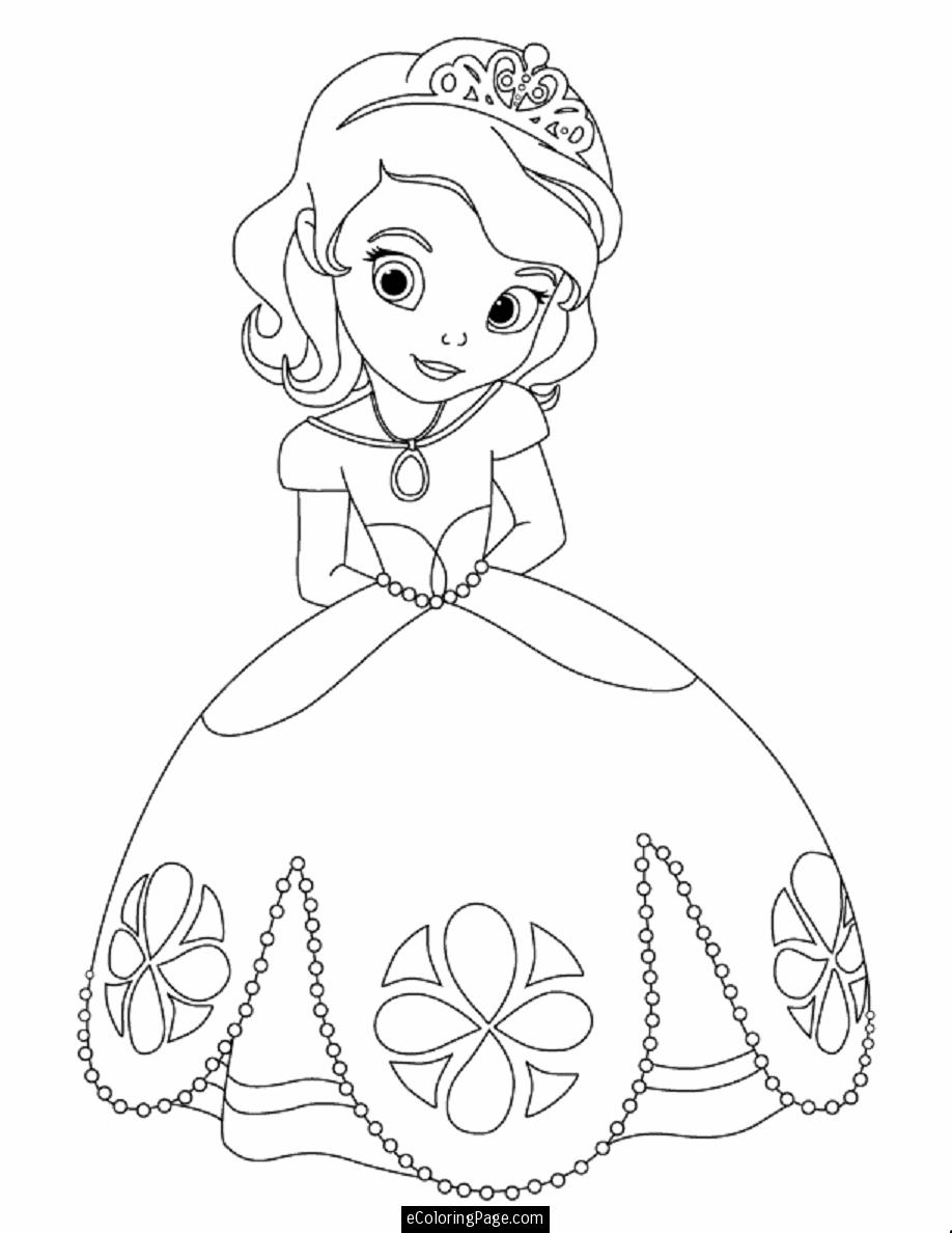 Drawn princess colouring page  James James from Disney