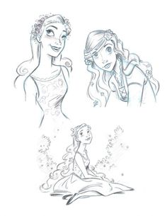 Drawn princess concept art Giselle 15257218 photo Draw concept