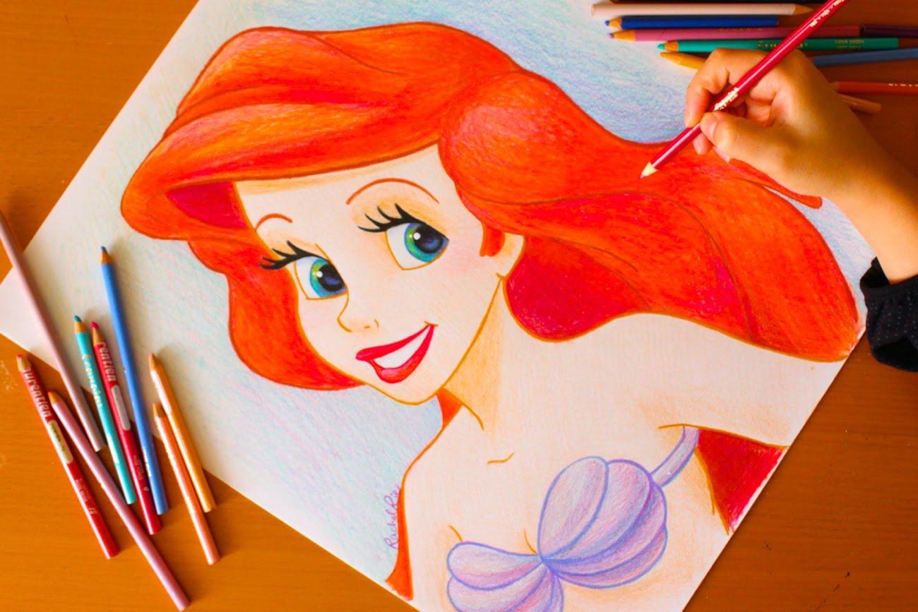 Drawn princess creative ART ART Drawing: Little Little