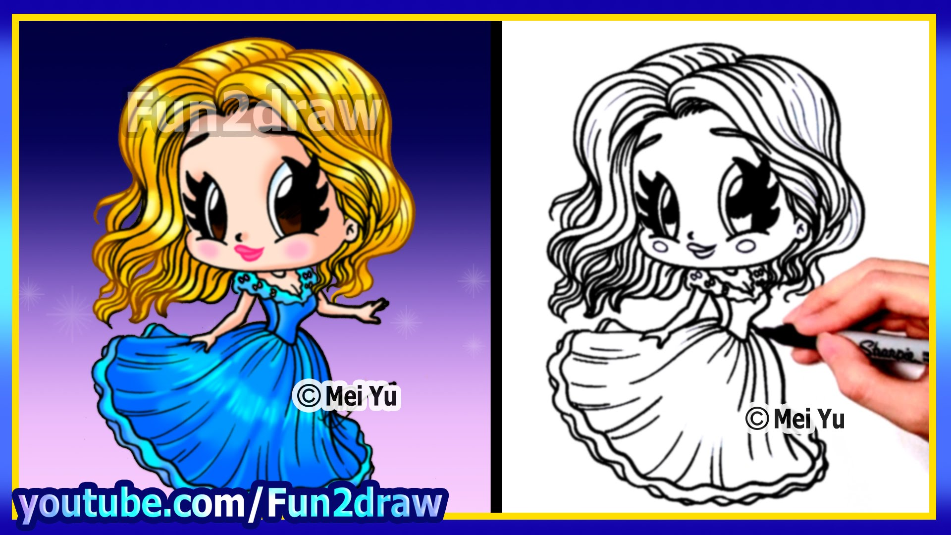 Drawn princess cute  Princess How A Cinderella