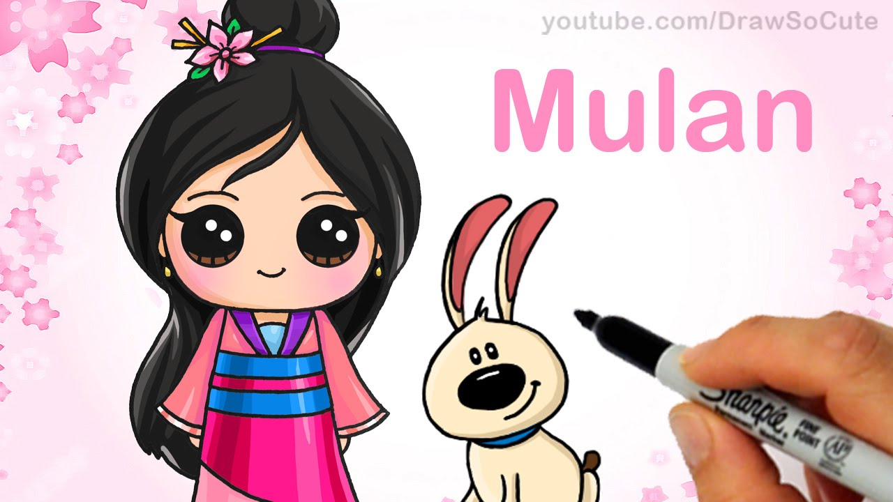 Drawn princess cute Step by Cute Draw YouTube