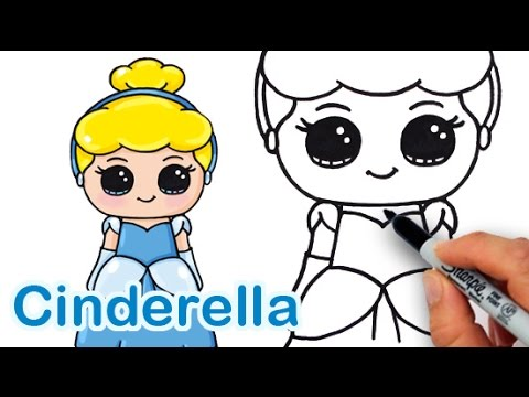 Drawn princess cute Cinderella Cute Easy Draw YouTube
