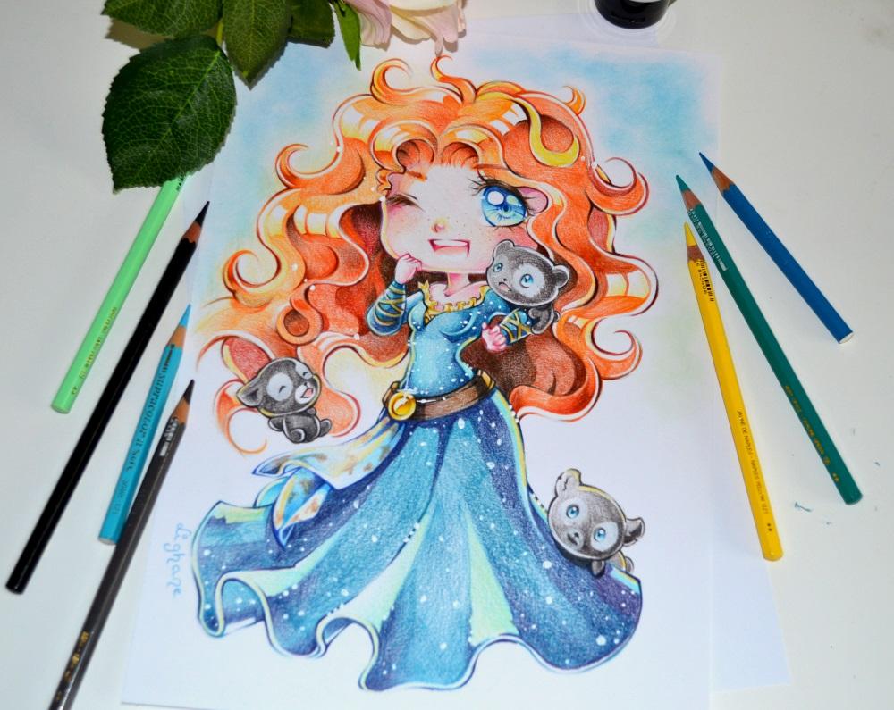 Drawn princess deviantart Chibi com Merida @DeviantArt Chibi