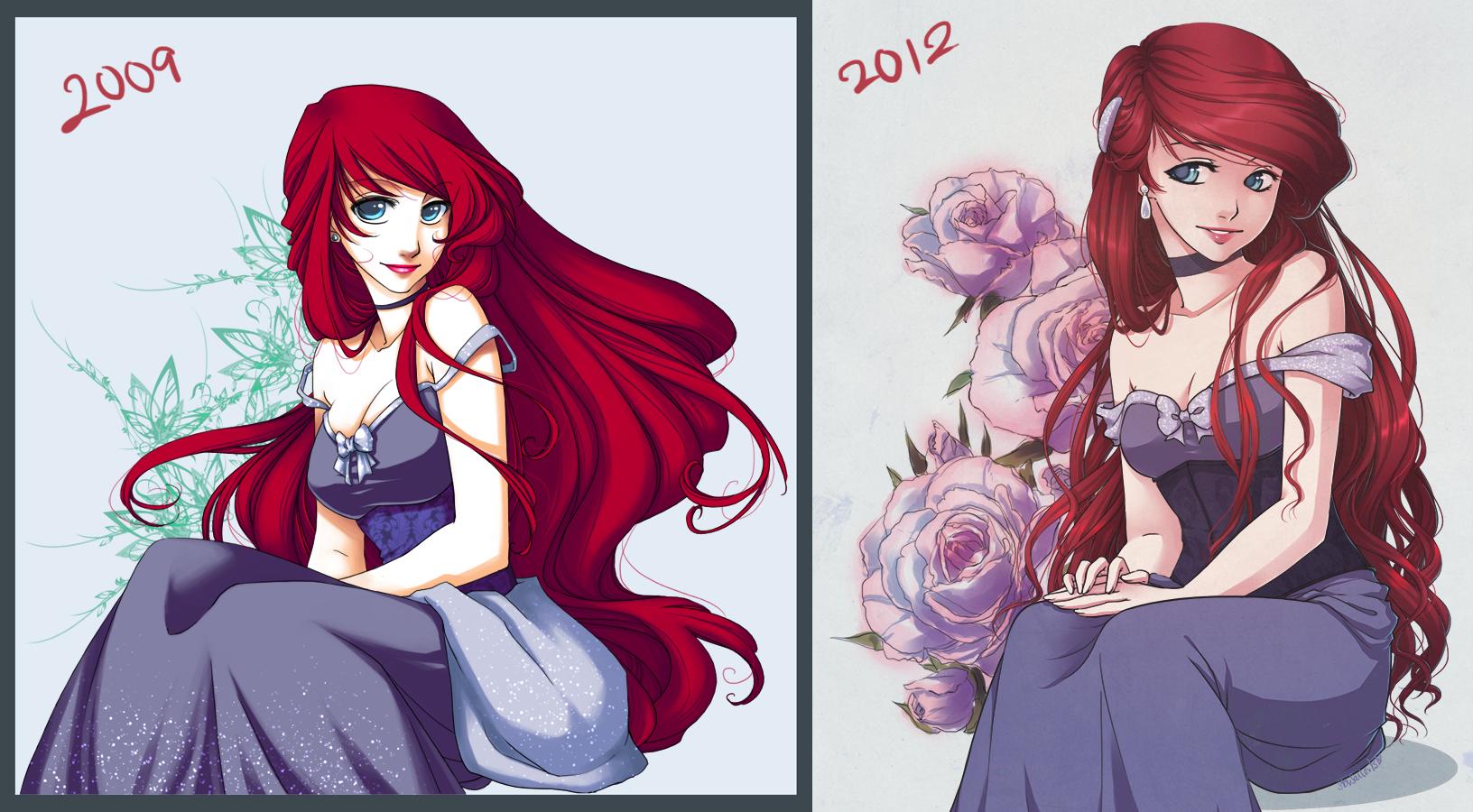 Drawn princess digital Fay on Re Draw Re