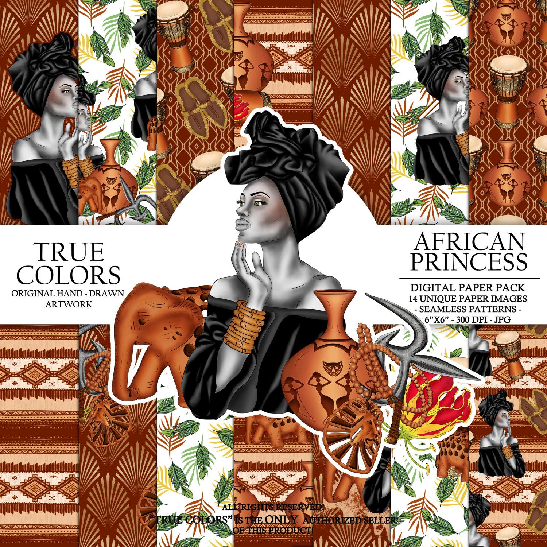 Drawn princess digital Digital digital Black Beautiful Paper