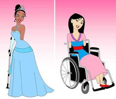 Drawn princess disabled Disney disabled disabilities with Artist