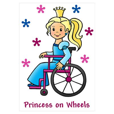 Drawn princess disabled Awesome Poster Wheelchair Poster is