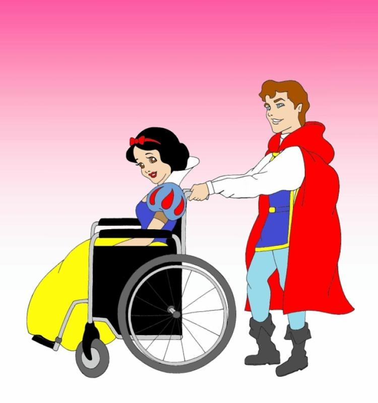 Drawn princess disabled Disney in women disabled Snow
