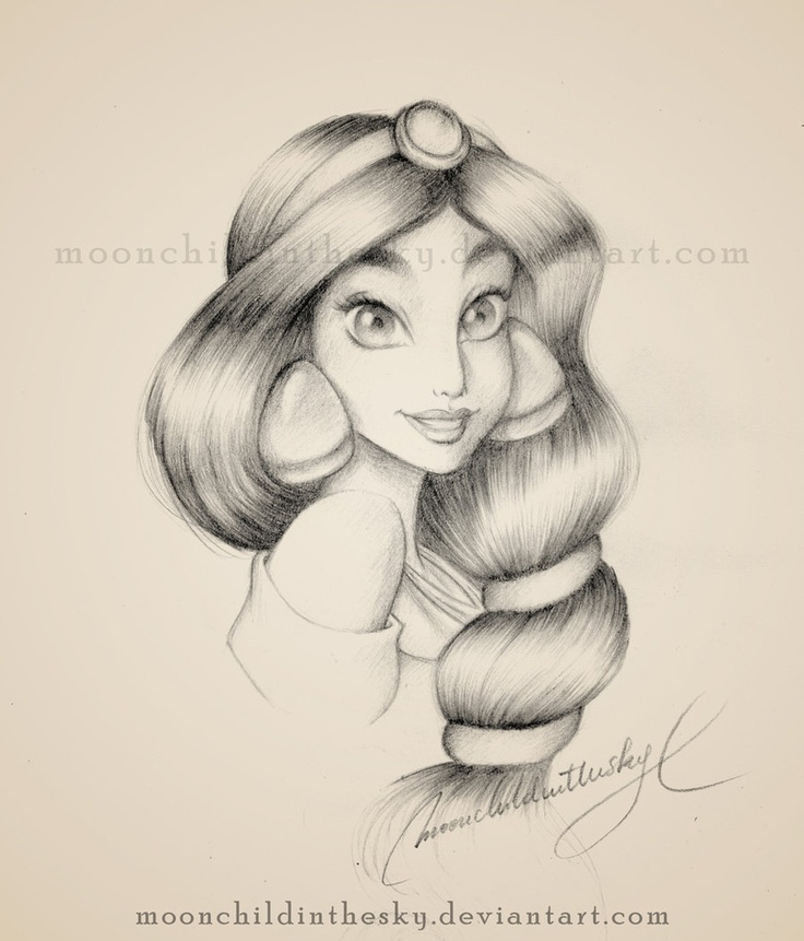 Drawn princess disney character #9