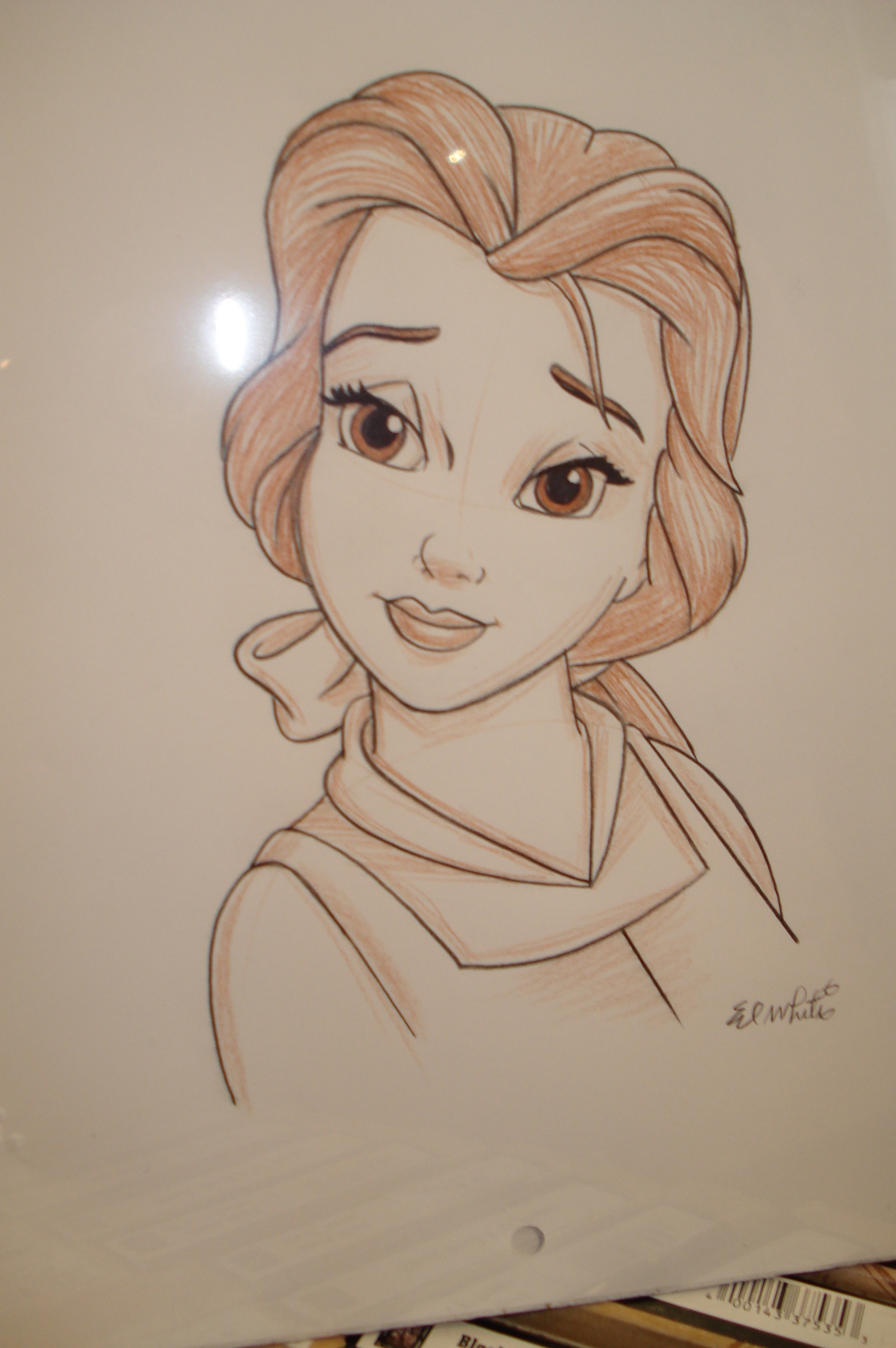 Drawn princess disney character #4