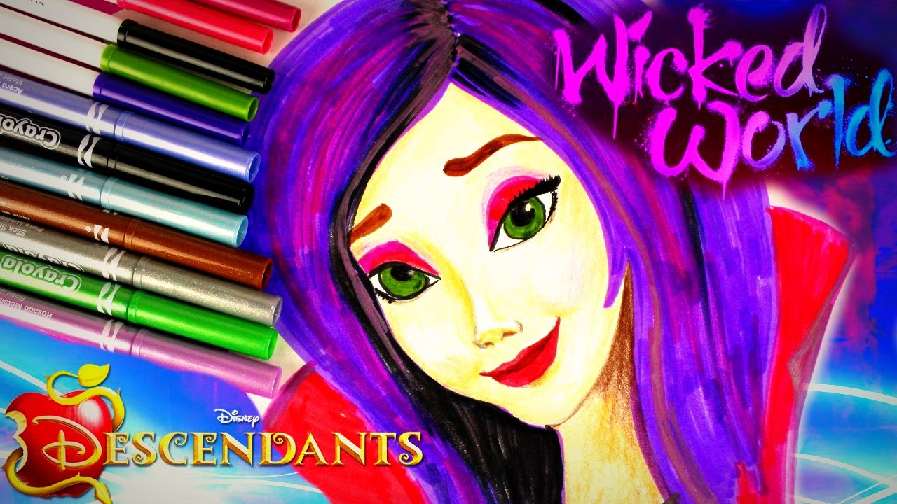Drawn princess disney descendant MAL Drawing Fast and WORLD