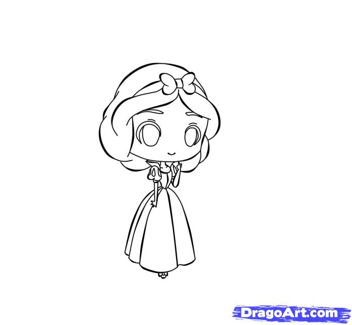 Drawn princess dragoart Chibi to Chibi by Snow