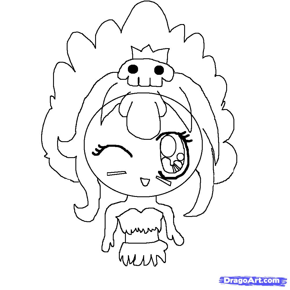 Drawn princess dragoart Chibi to  Drawing Step