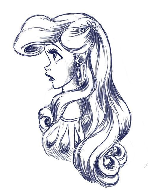 Drawn princess drawing Something Disney  princess stick
