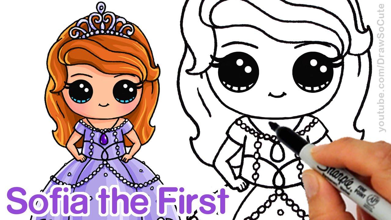 Drawn princess drawing Sofia Chibi Disney Princess step