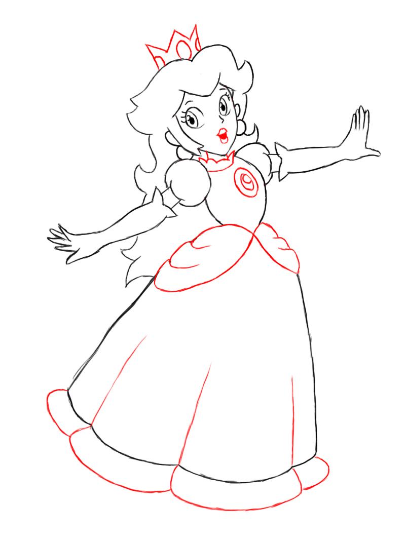 Drawn princess drawing To shaped mouth Princess crown