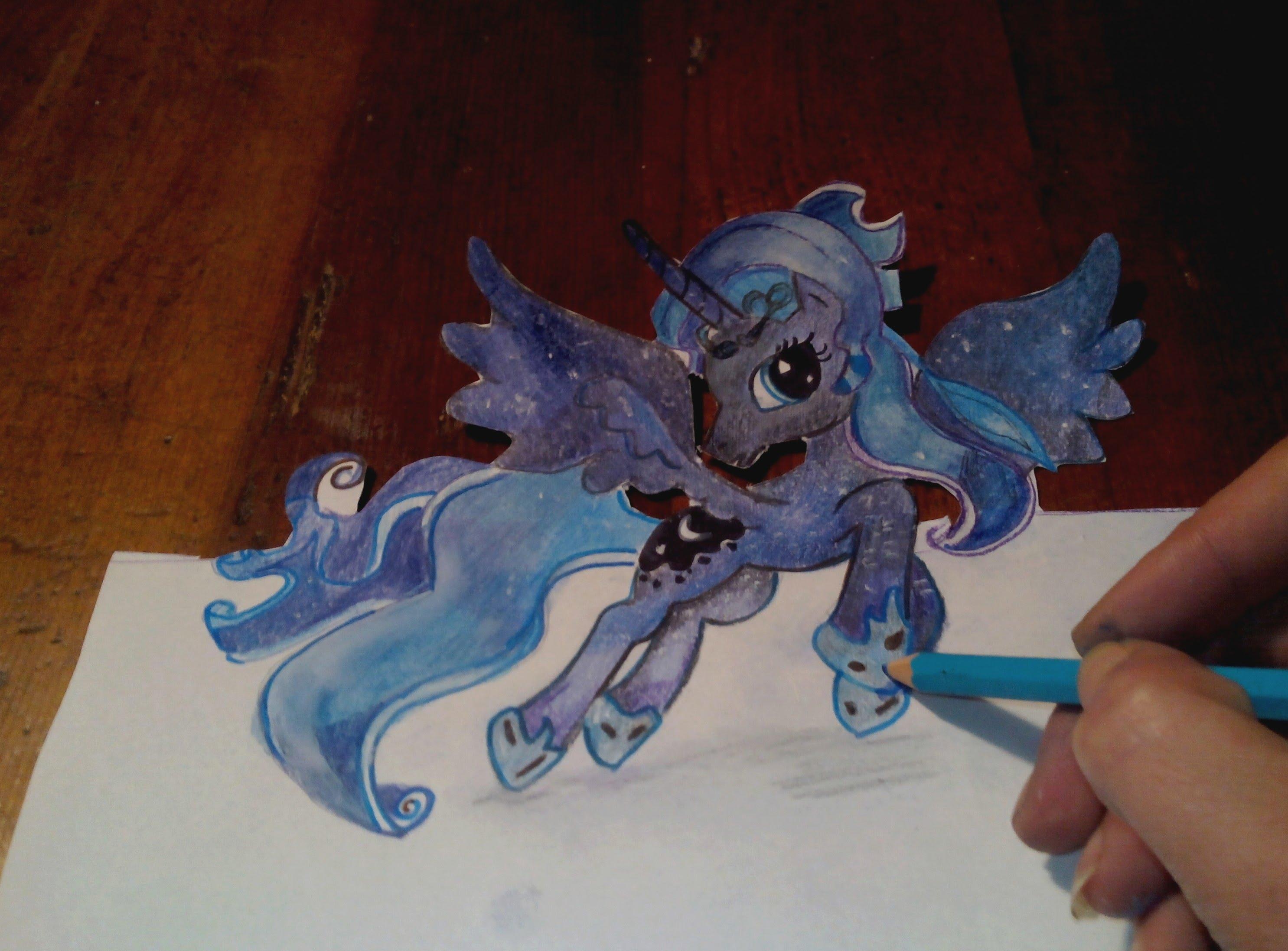 Drawn princess drawing Luna to YouTube little princess