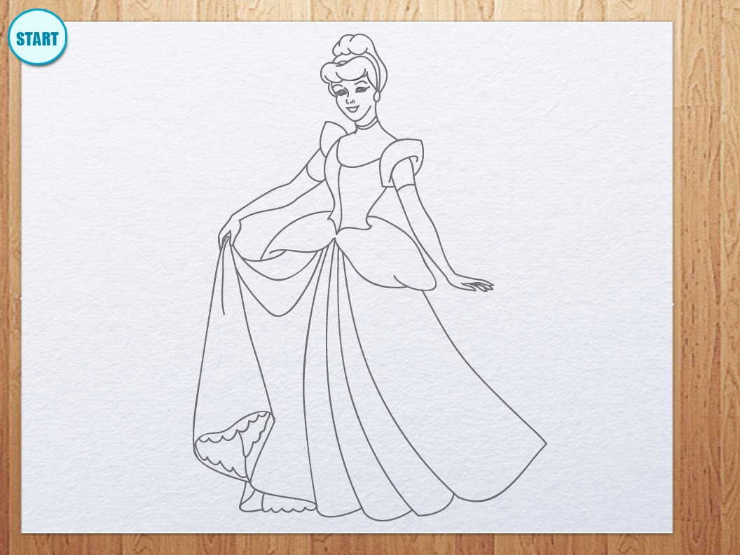 Drawn amd cinderella YouTube to Cinderella How draw