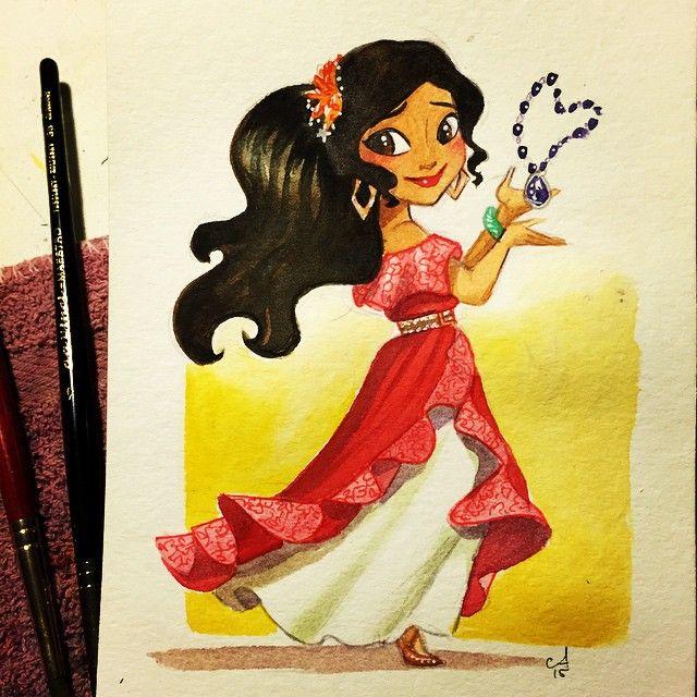 Drawn princess elena disney More best Castillo on