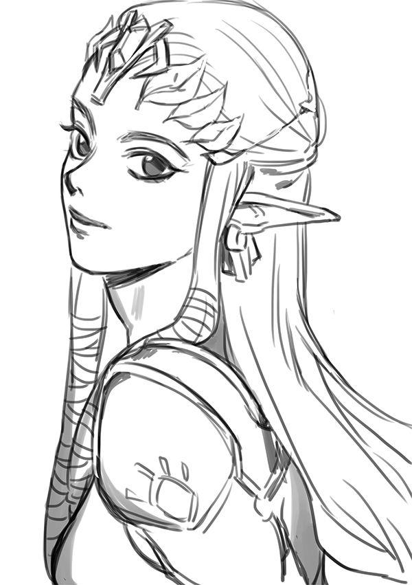 Drawn princess face Ideas Zelda zelda Pinterest 25+