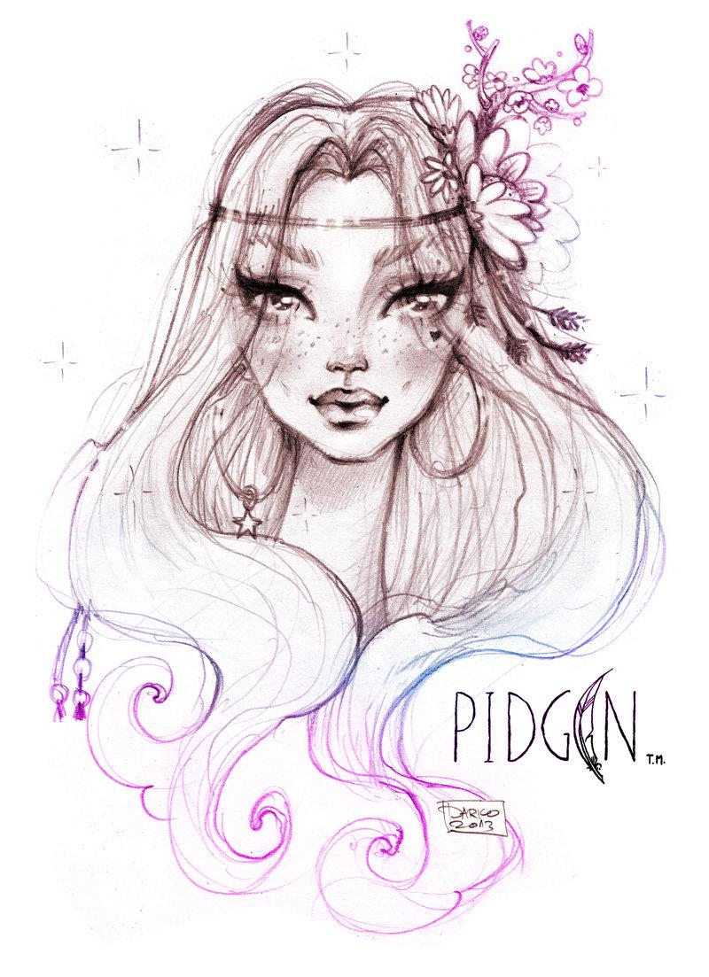 Drawn princess face Dordevic Disney Darko McKenny by
