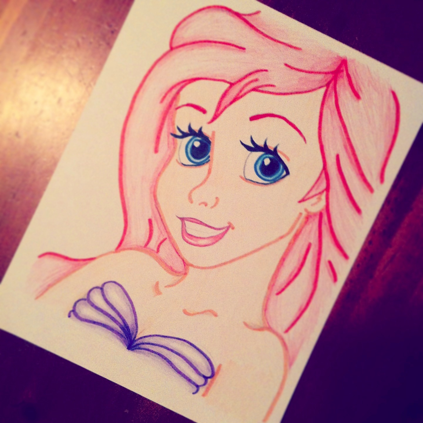 Drawn princess face Need to but Done already