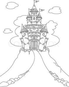 Drawn princess fairytale princess Castle Castle' Tale Fairy coloring