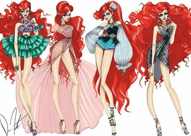 Drawn princess fashion illustration Fashion Disney Pinterest ideas sketches
