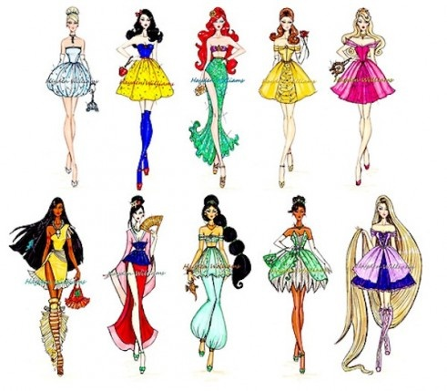 Drawn princess fashion illustration 34 Art Best on Sketches