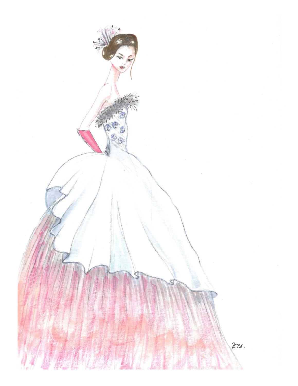 Drawn princess fashion illustration By fashion illustration princess Hand