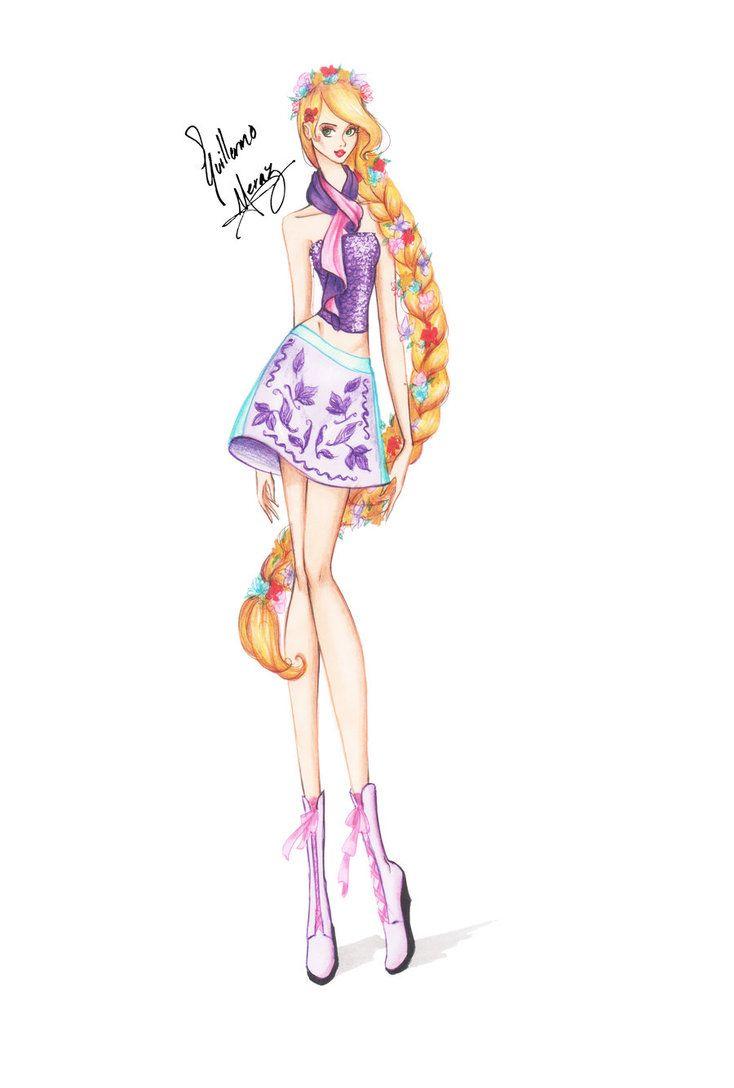 Drawn princess fashion illustration Super ideas Skinny Princess Best