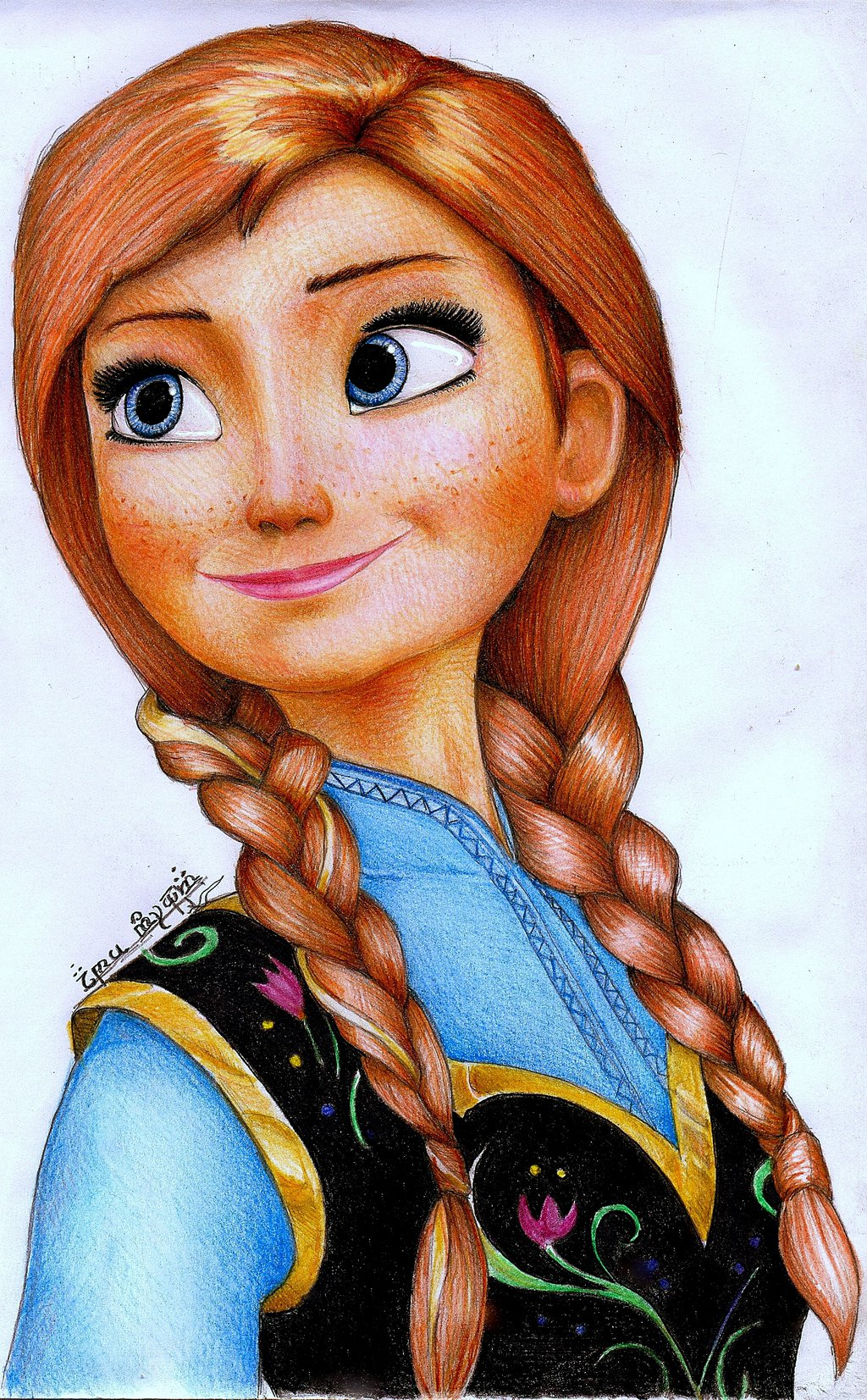 Drawn princess frozen princess FROZEN by From ANNA ANNA