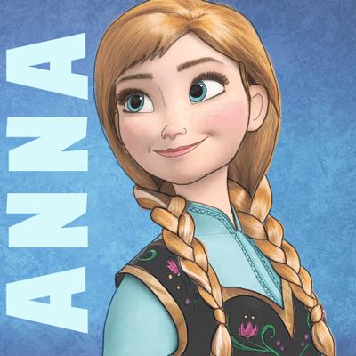 Drawn princess frozen princess  Anna How from Princess