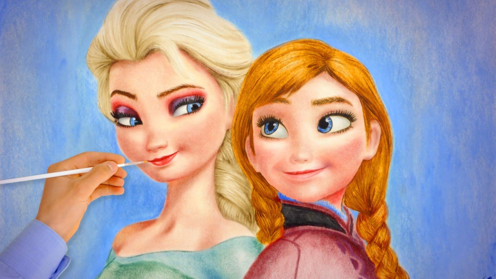 Drawn princess frozen princess Speed  Drawing Frozen Frozen