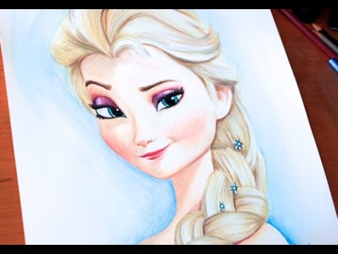Drawn princess frozen princess PRINCESS PRINCESS ART Drawing: ELSA