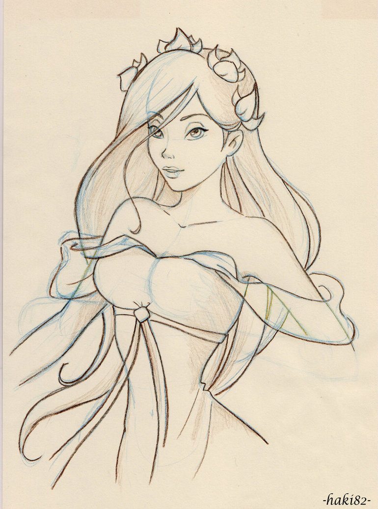 Drawn princess giselle enchanted On DeviantArt MaddMorgana MaddMorgana sketch