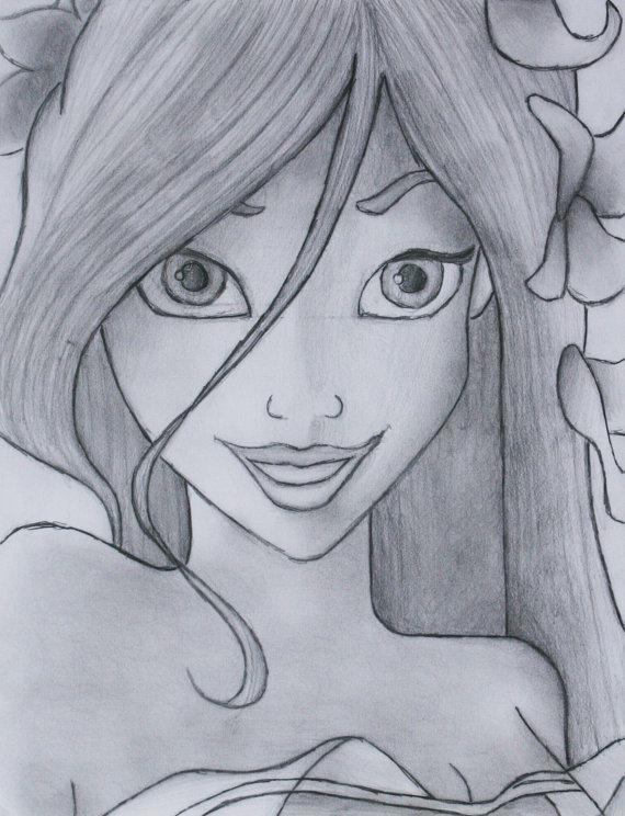 Drawn princess giselle enchanted Drawing Etsy Enchanted artbymbw by