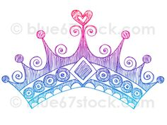 Mauve clipart princess crown Find  and Hand Drawing