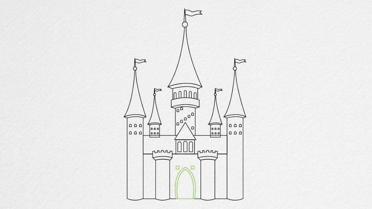 Drawn princess had kingdom By step a to CASTLE