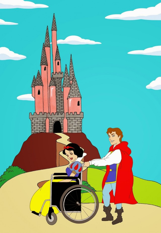 Drawn princess had kingdom Disabled beauty Show white Ableism