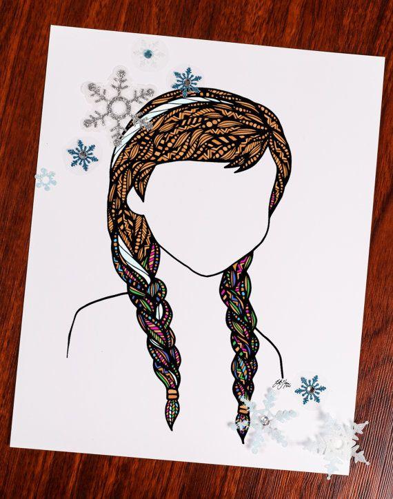 Drawn princess hair Strip hair of 20+ Hair
