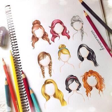 Drawn princess hair Hairstyles how 25+ color Pinterest