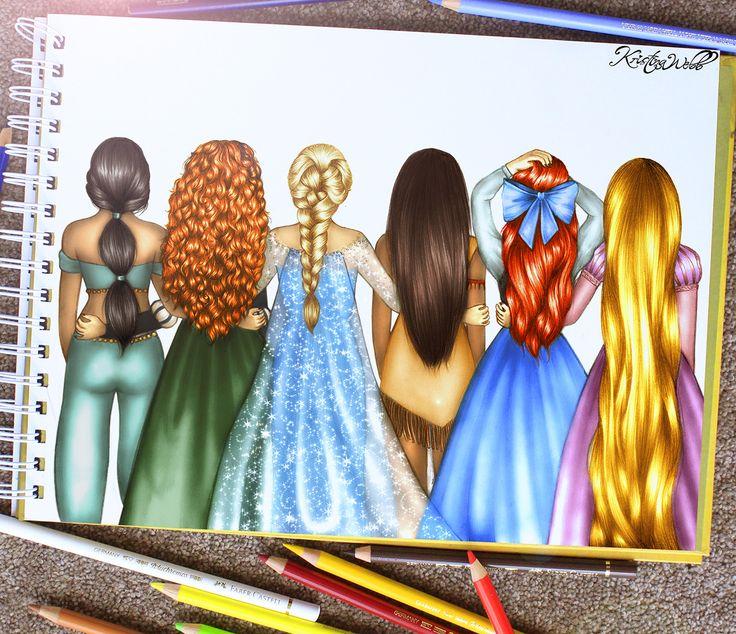 Drawn princess hair Ariel's damn drawings 25+ Disney