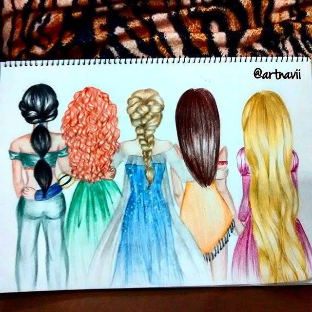 Drawn princess hairstyle disney On may disney You rapunzel