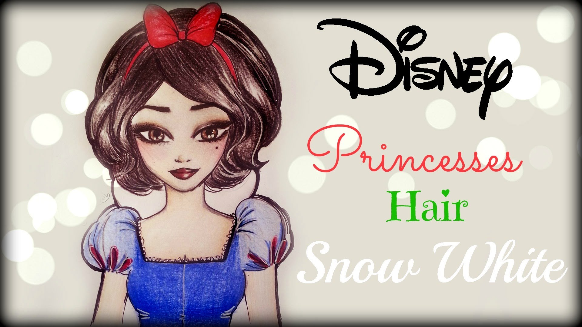 Drawn princess hairstyle disney White Snow ❤ How