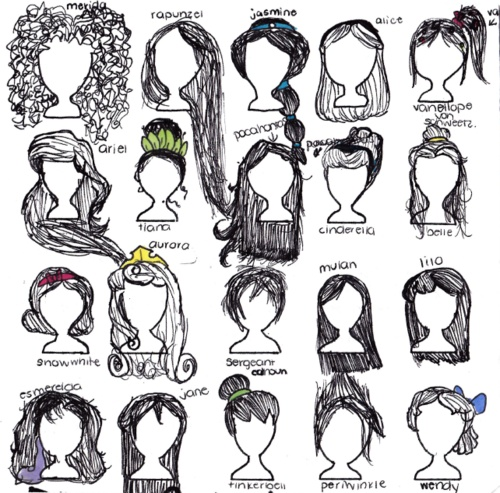 Drawn princess hairstyle disney About hairstyles images Pinterest best