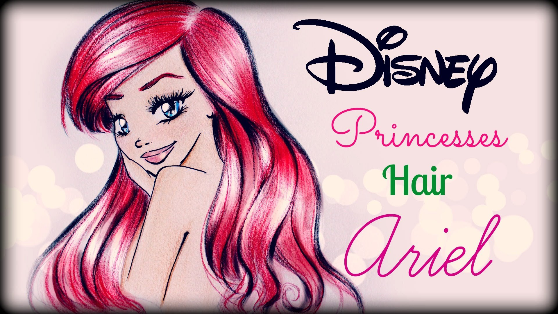 Drawn princess hairstyle disney YouTube Ariel ❤ How