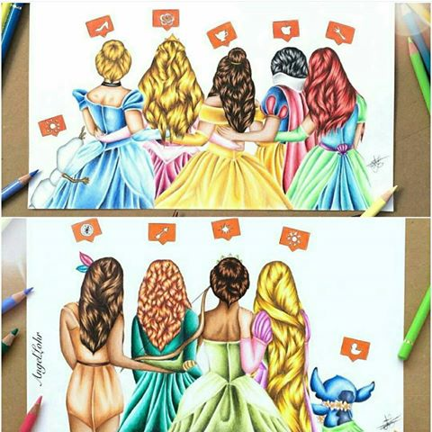 Drawn princess hairstyle disney Art League Ivy Princesses