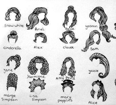 Drawn princess hairstyle disney On best to 111 disney