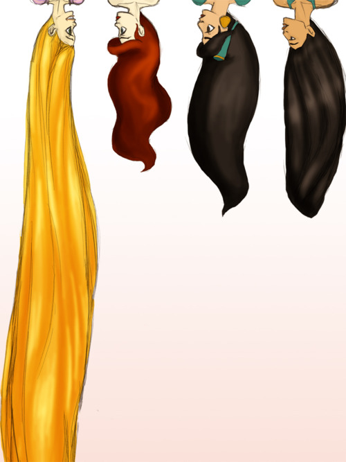 Drawn princess hairstyle disney Princess art disney Pinterest lengths